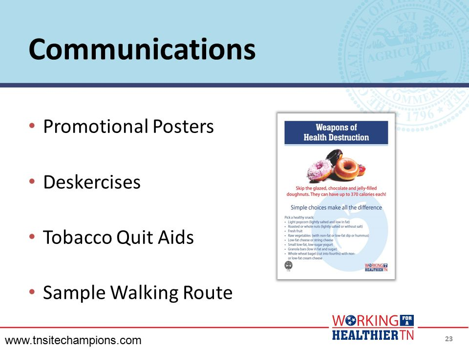 Communications Promotional Posters Deskercises Tobacco Quit Aids