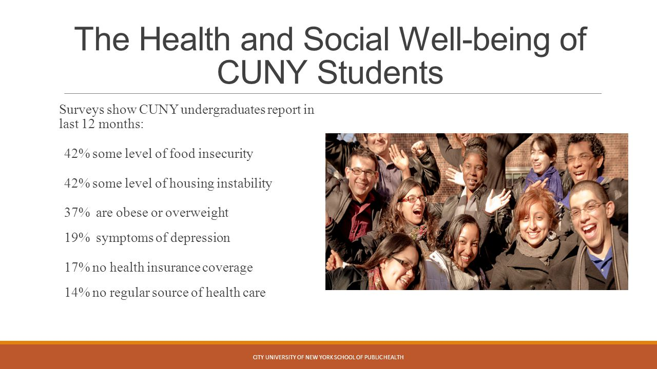 The Health and Social Well-being of CUNY Students