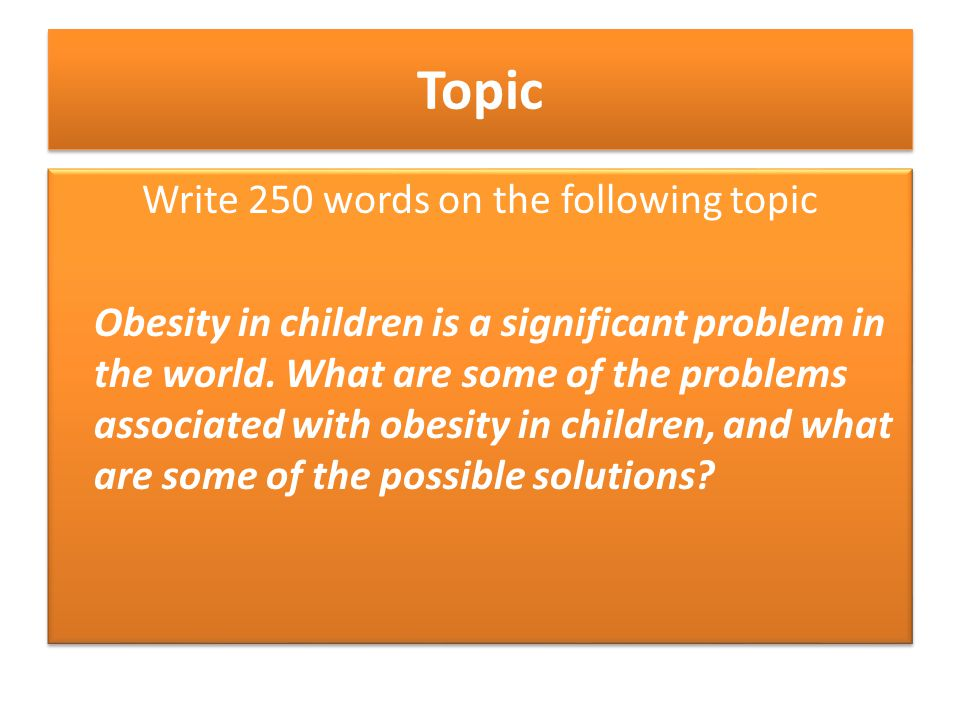 Problemsolution Essay Part   Ppt Video Online Download Write  Words On The Following Topic