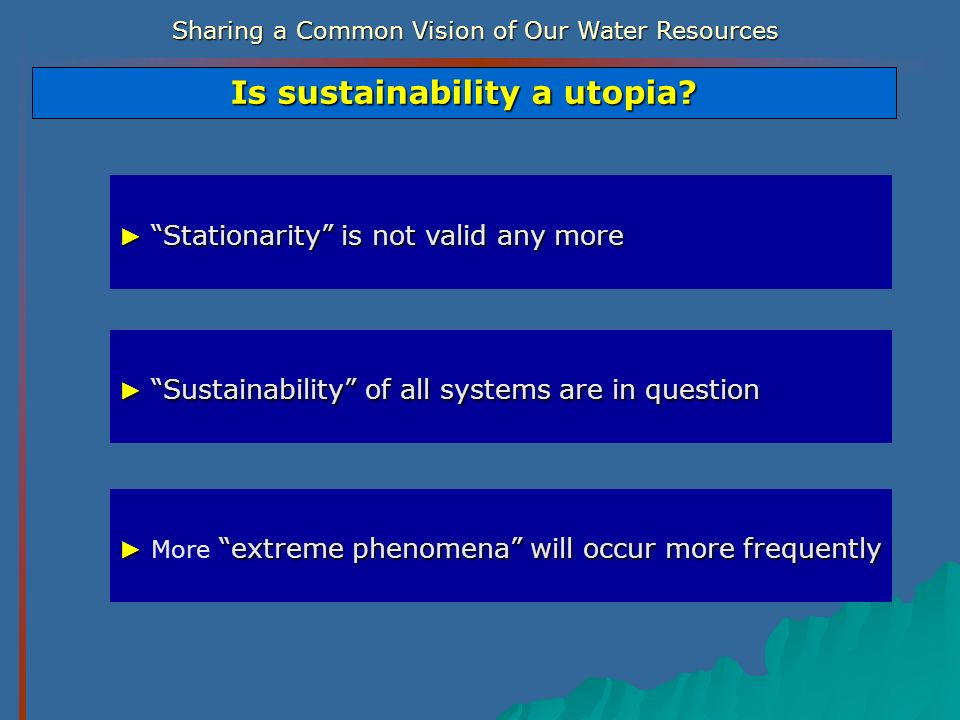Is sustainability a utopia