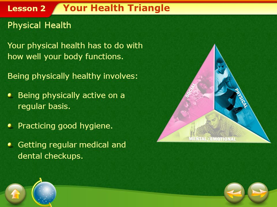 Your Health Triangle Physical Health
