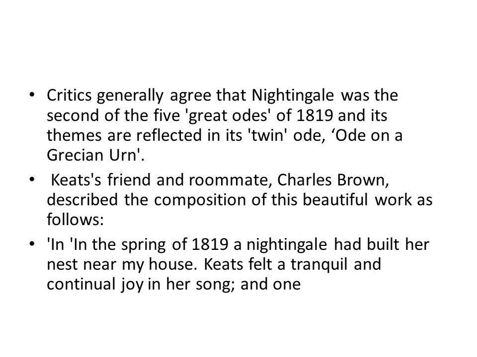 keats odes themes