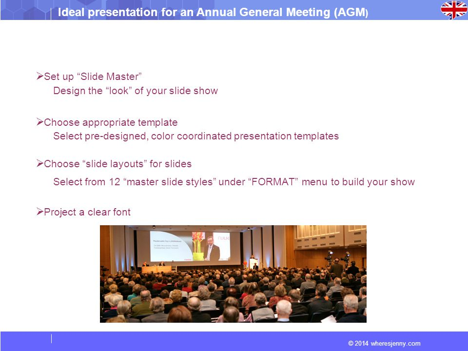 ideal presentation for an - ppt video online download, Agm Presentation Template, Presentation templates