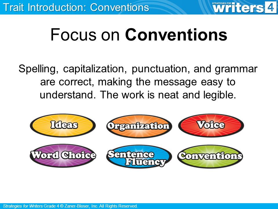 Focus on Conventions Trait Introduction: Conventions
