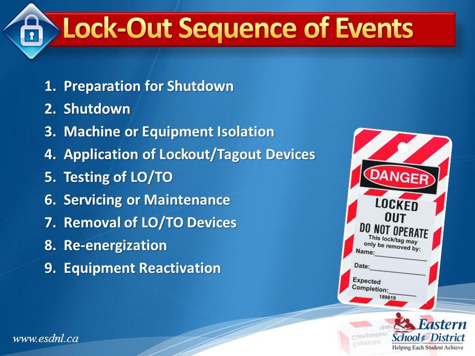 Lock-Out Sequence of Events