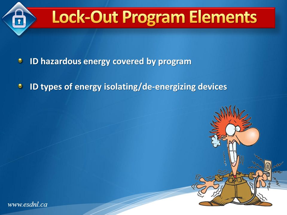 Lock-Out Program Elements