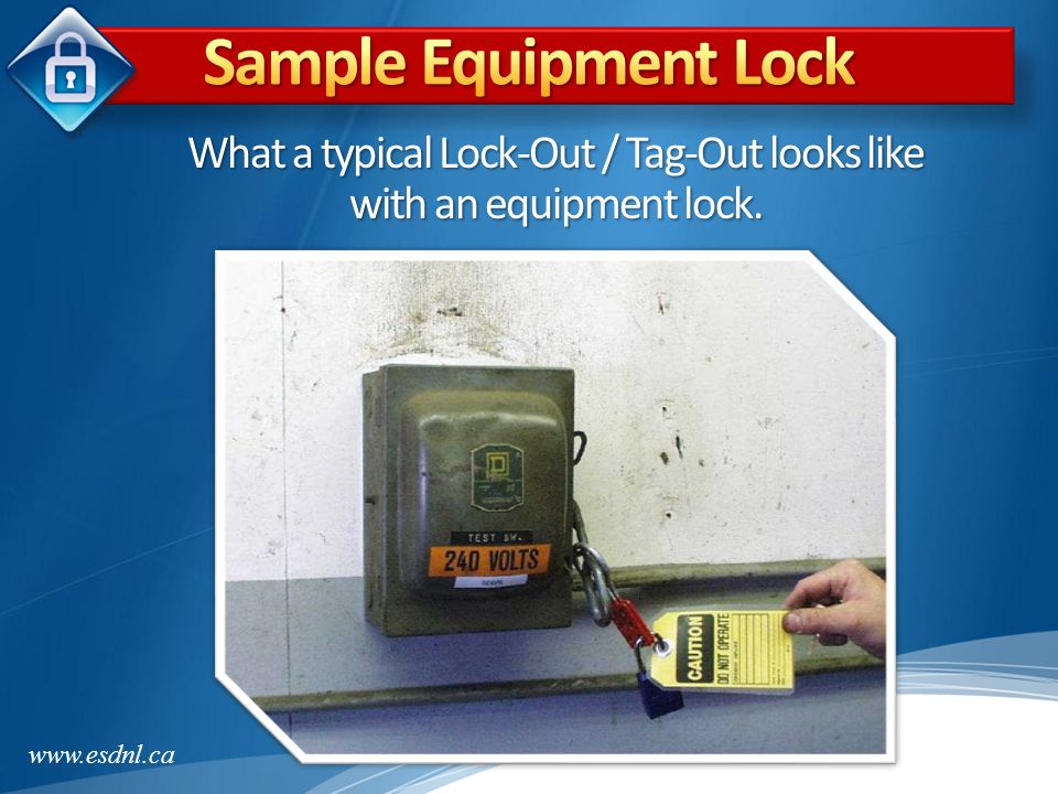 What a typical Lock-Out / Tag-Out looks like with an equipment lock.