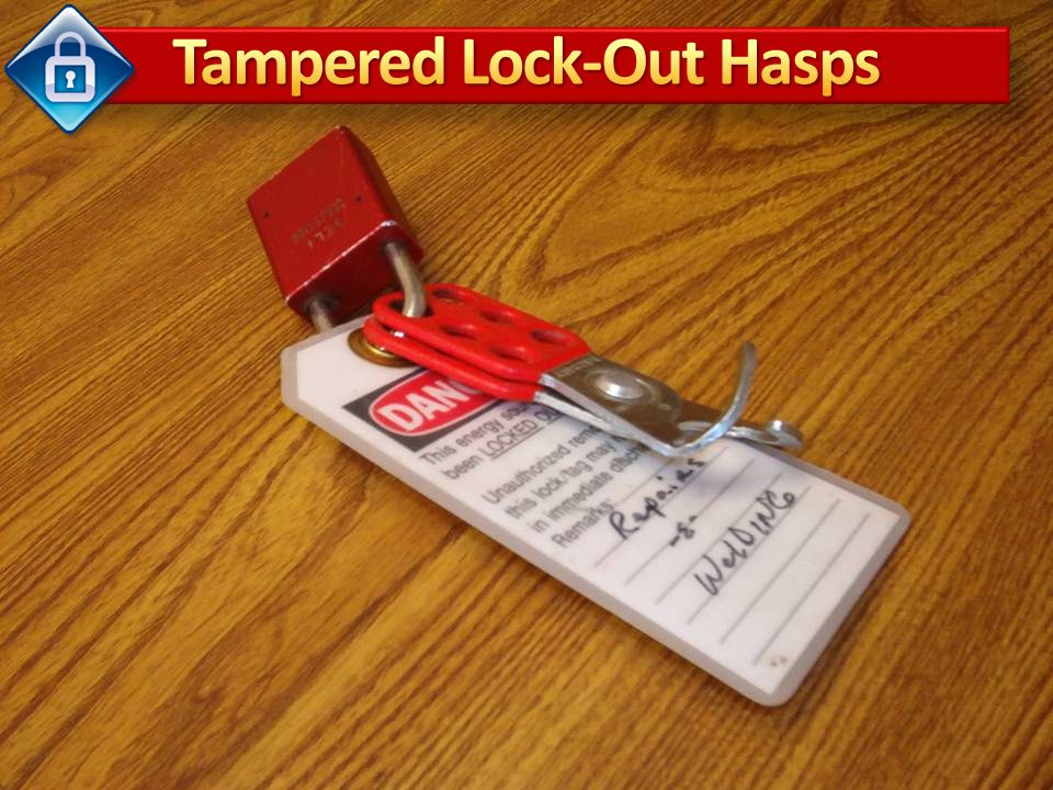 Tampered Lock-Out Hasps