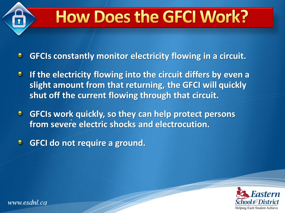 How Does the GFCI Work GFCIs constantly monitor electricity flowing in a circuit.