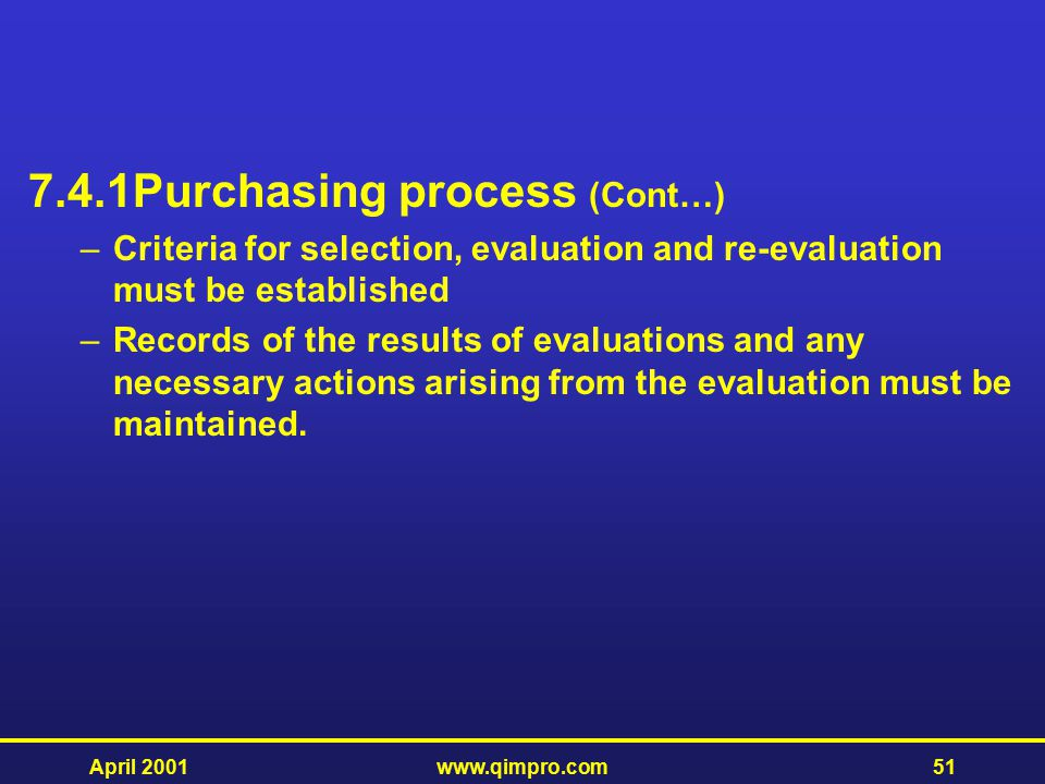 7.4.1 Purchasing process (Cont…)