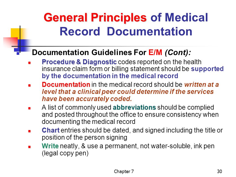 documentation and the medical record ppt video online download rh slideplayer com medical documentation guidelines cms medical records guidelines