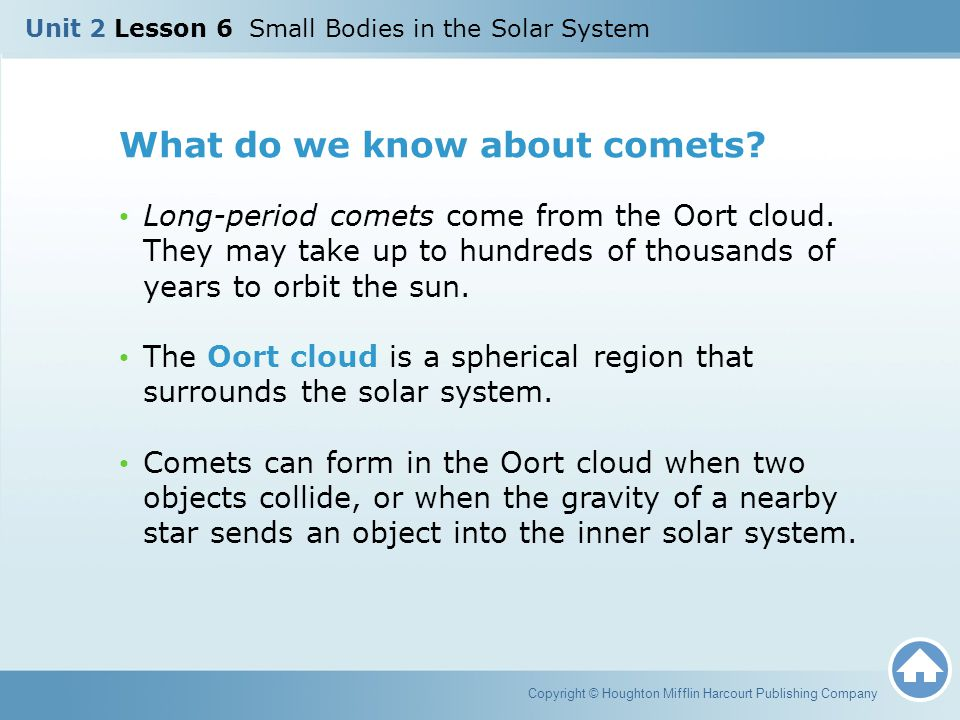 What do we know about comets