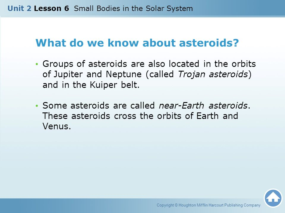 What do we know about asteroids