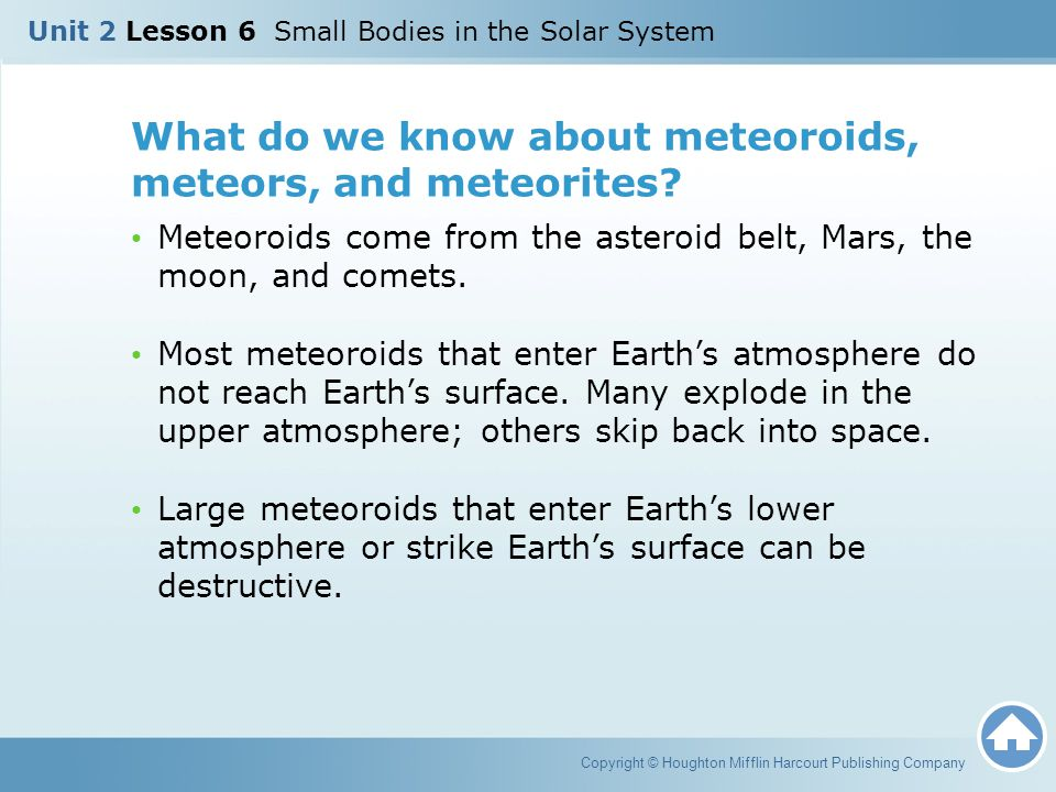 What do we know about meteoroids, meteors, and meteorites