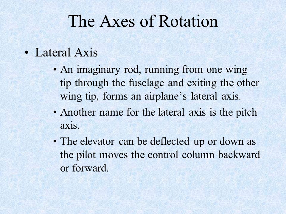 The Axes of Rotation Lateral Axis