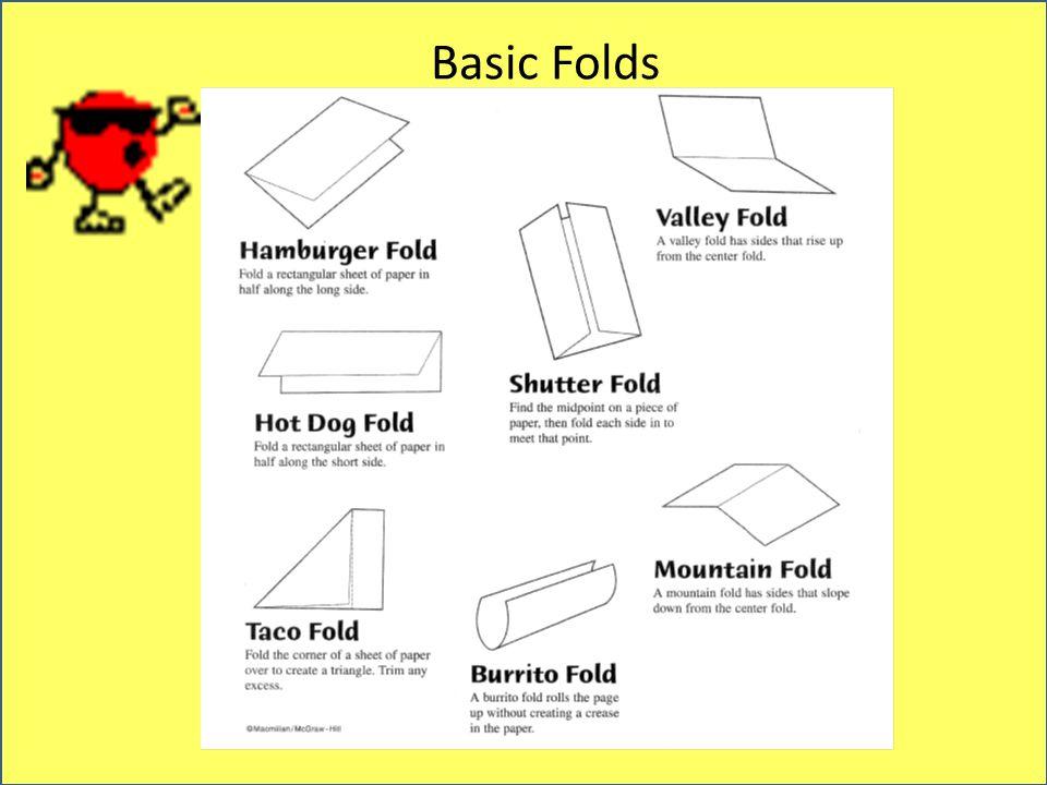 6 Basic Folds: Hamburger Hot Dog Worksheet At Alzheimers-prions.com