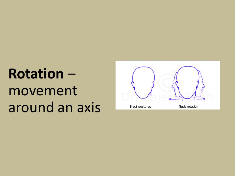Rotation – movement around an axis