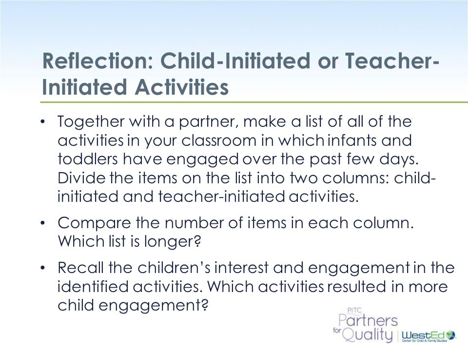 Reflection: Child-Initiated or Teacher-Initiated Activities