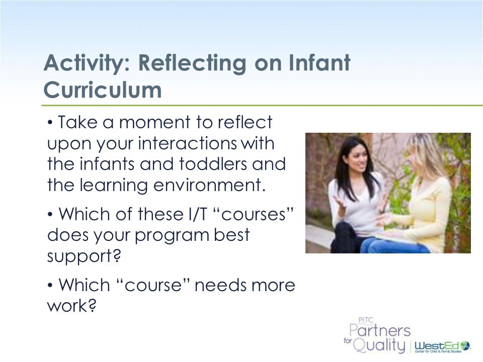 Activity: Reflecting on Infant Curriculum