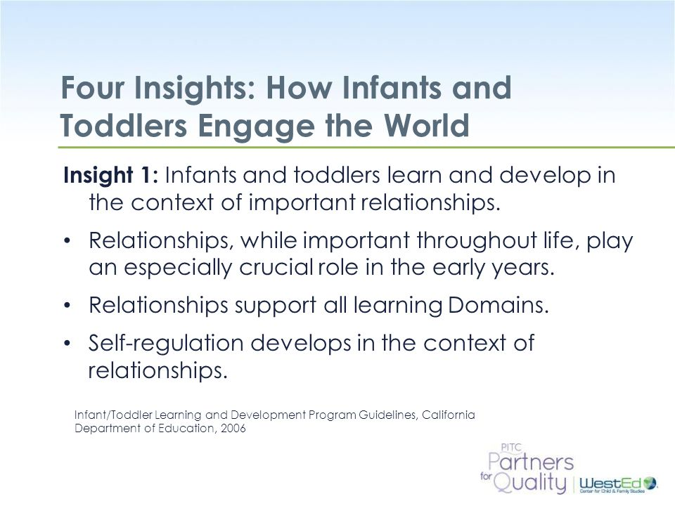Four Insights: How Infants and Toddlers Engage the World