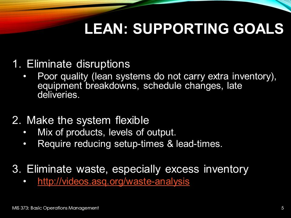 Lean: Supporting Goals