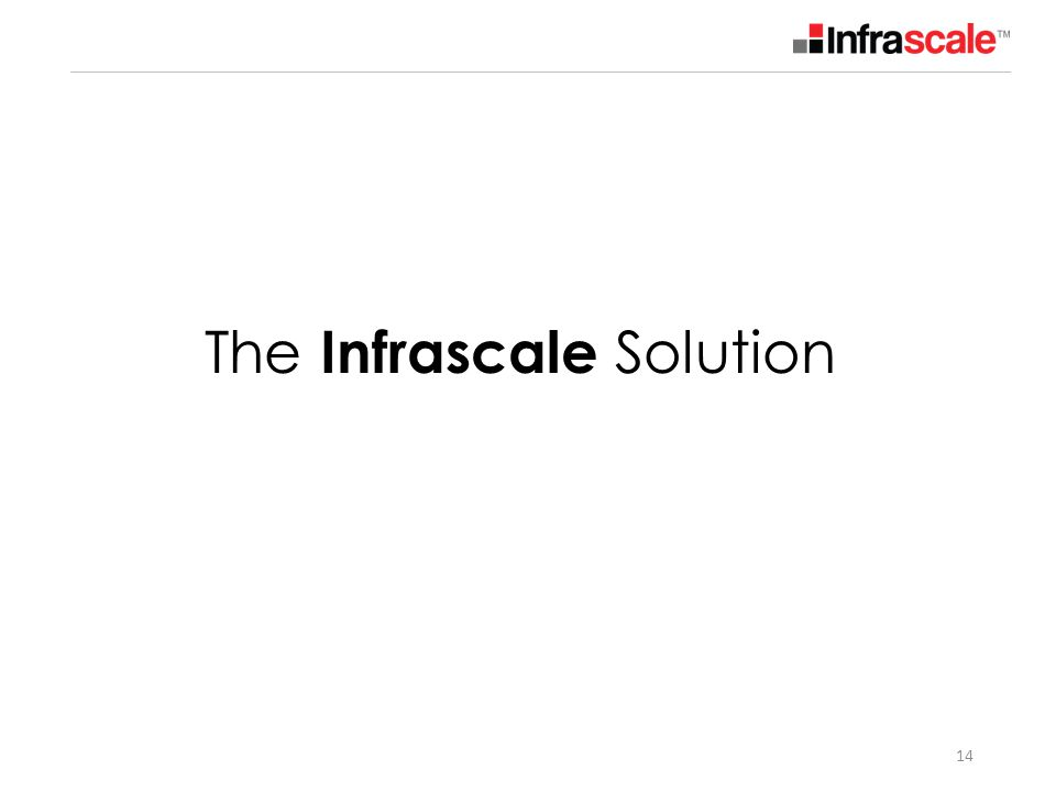 The Infrascale Solution