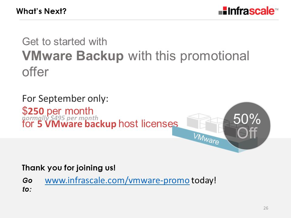 Get to started with VMware Backup with this promotional offer