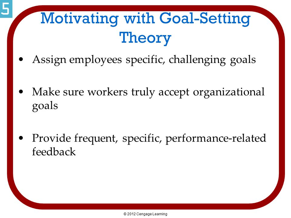 Motivating with Goal-Setting Theory
