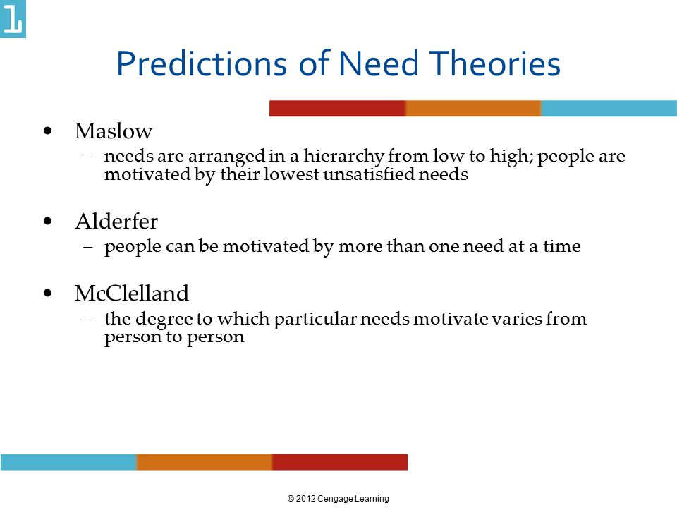 Predictions of Need Theories