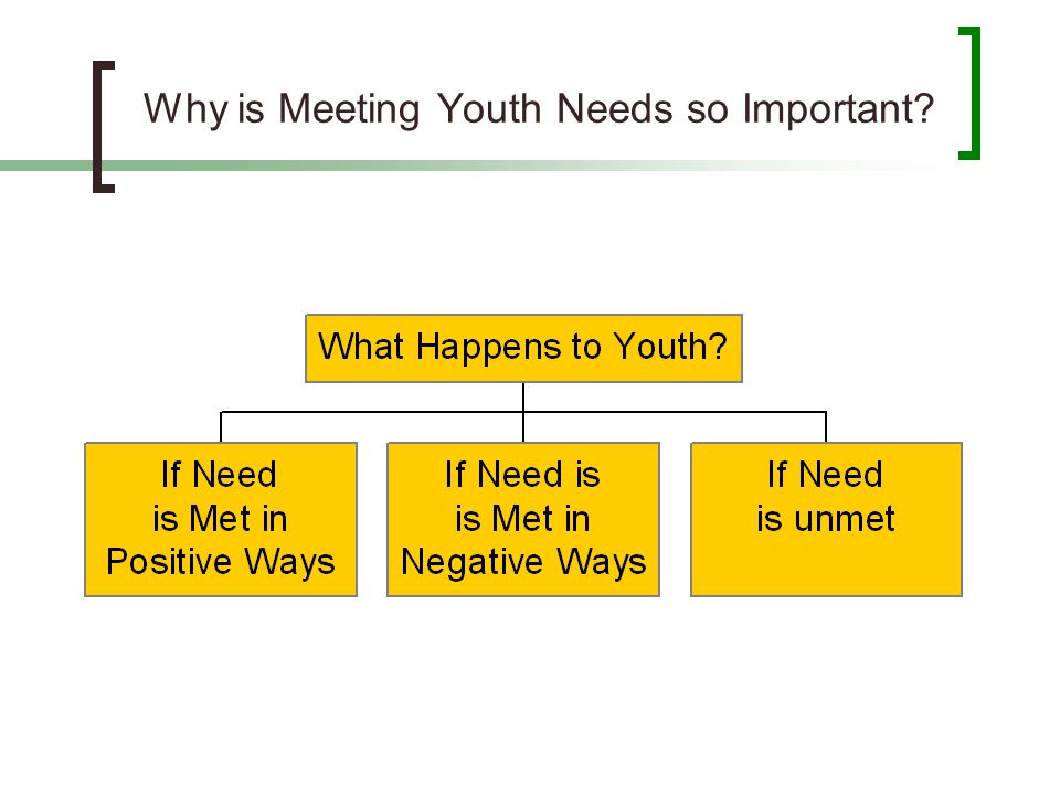 Why is Meeting Youth Needs so Important