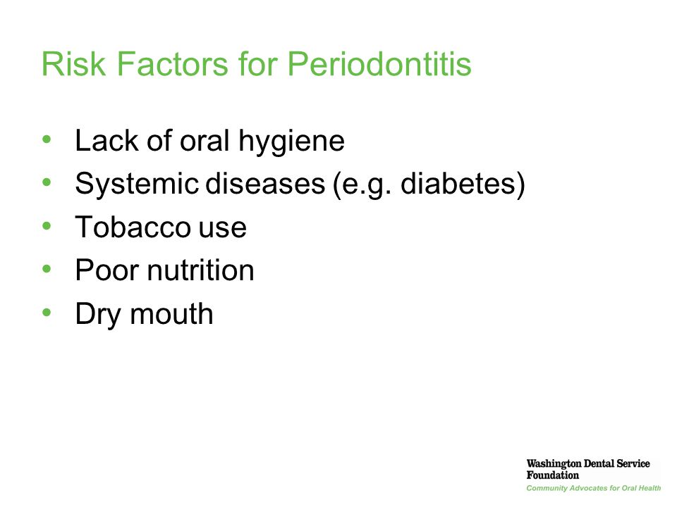 Risk Factors for Periodontitis