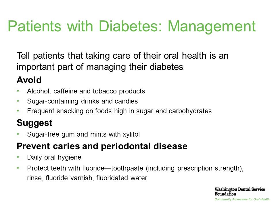 Patients with Diabetes: Management