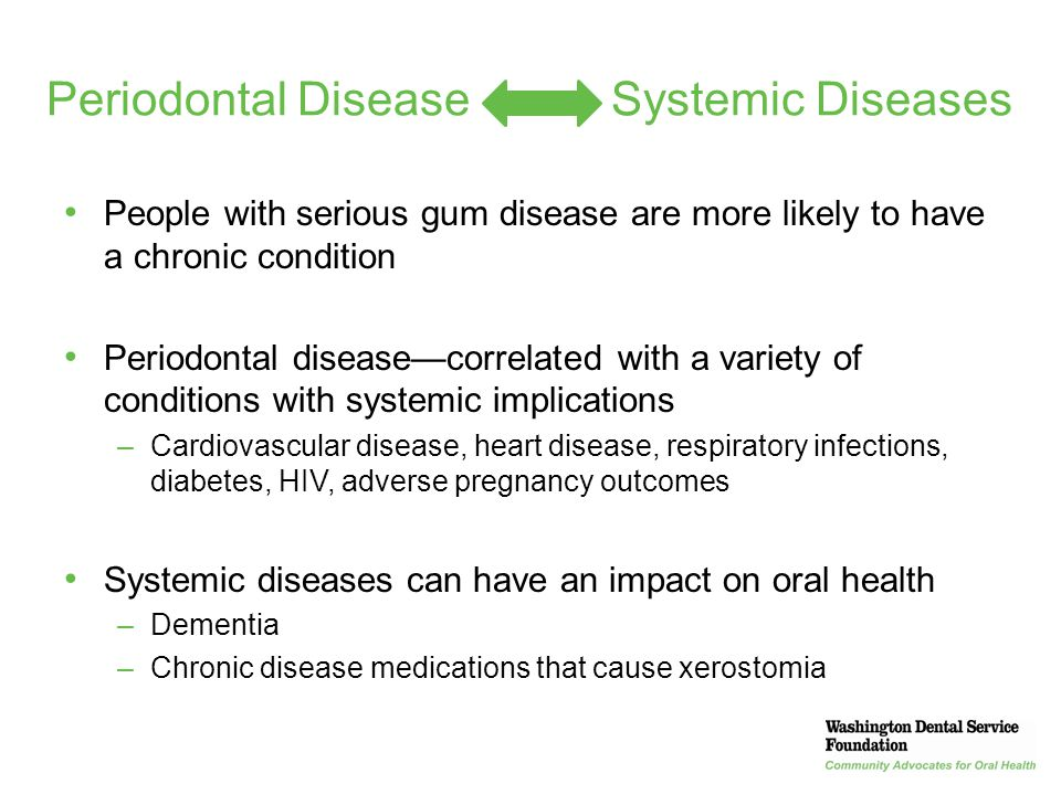Periodontal Disease Systemic Diseases