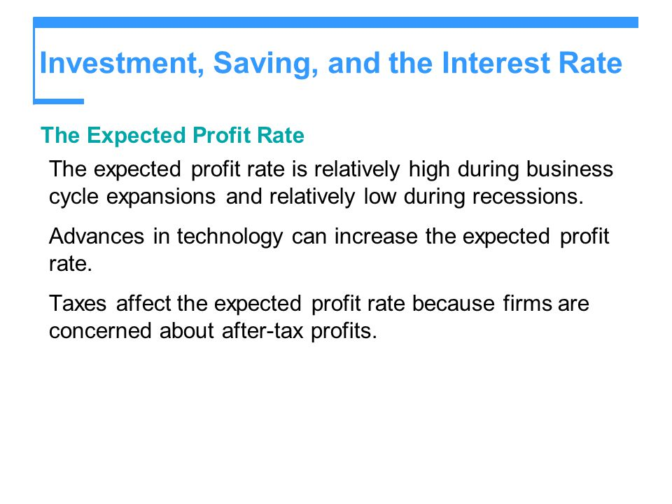 Investment, Saving, and the Interest Rate