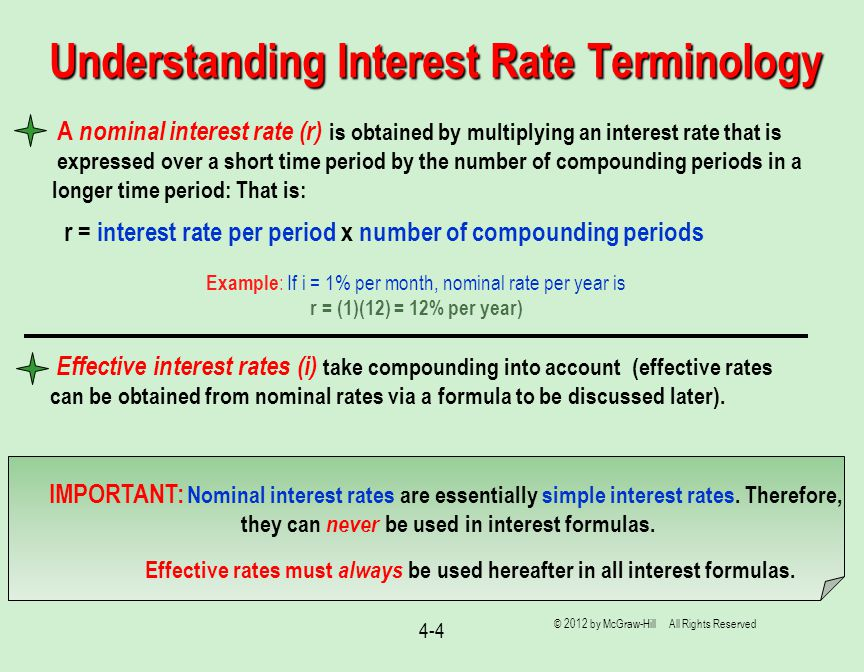 Nominal And Effective Interest Rates Lecture Slides To Accompany
