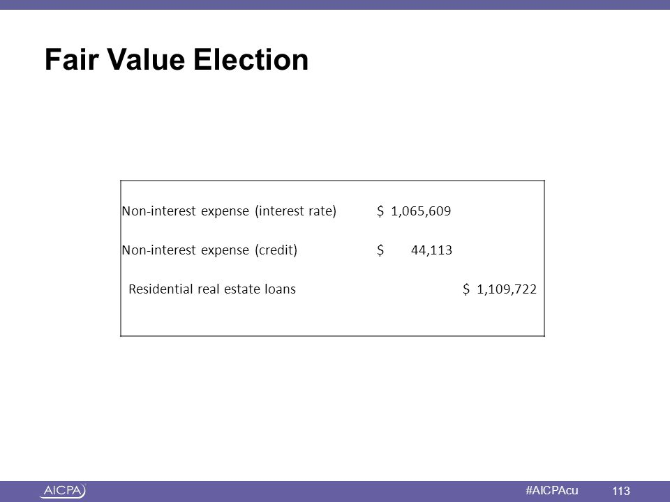 Fair Value Election a Non-interest expense (interest rate) $ 1,065,609
