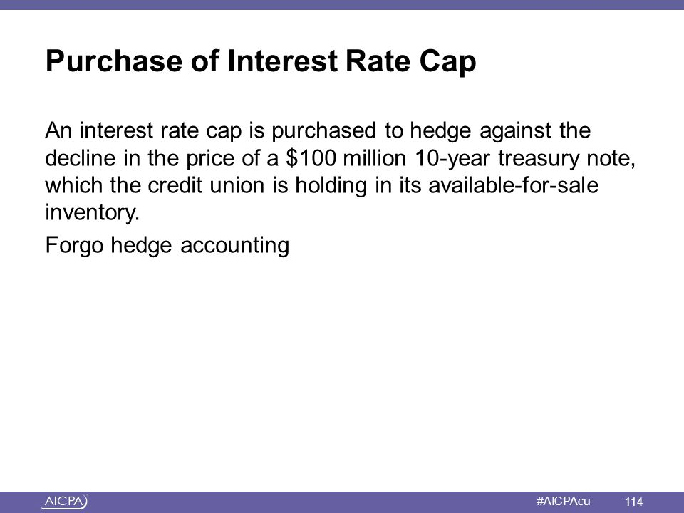 Purchase of Interest Rate Cap