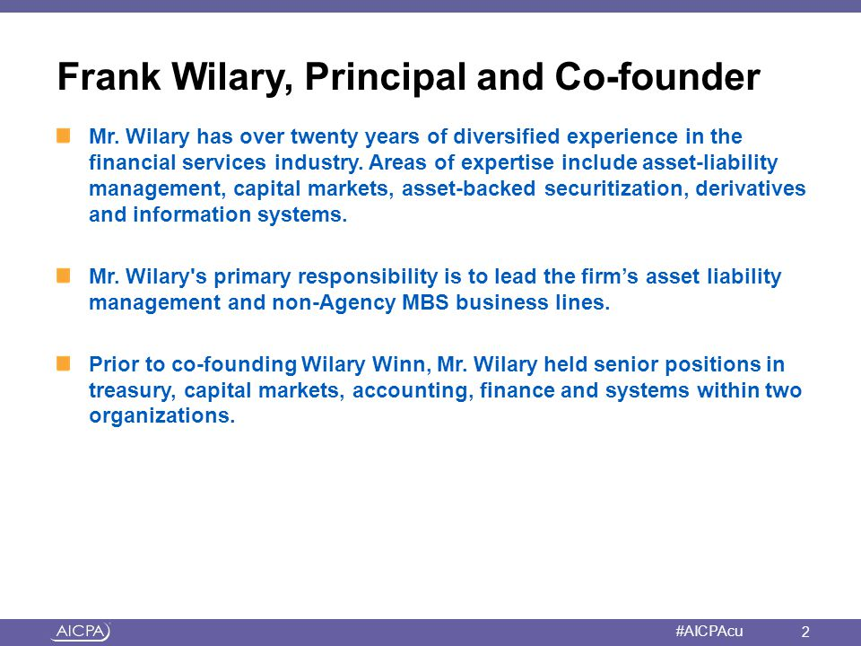 Frank Wilary, Principal and Co-founder