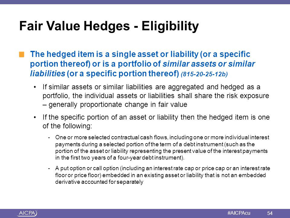 Fair Value Hedges - Eligibility