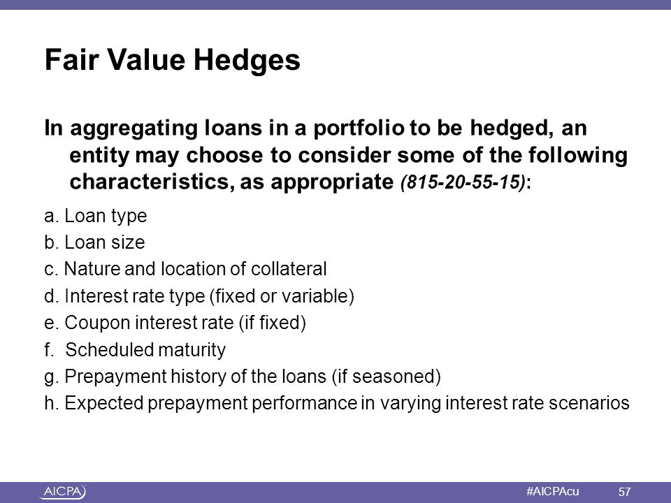 Fair Value Hedges