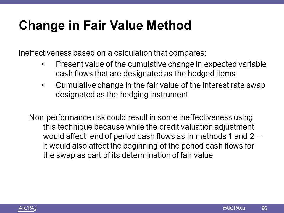 Change in Fair Value Method