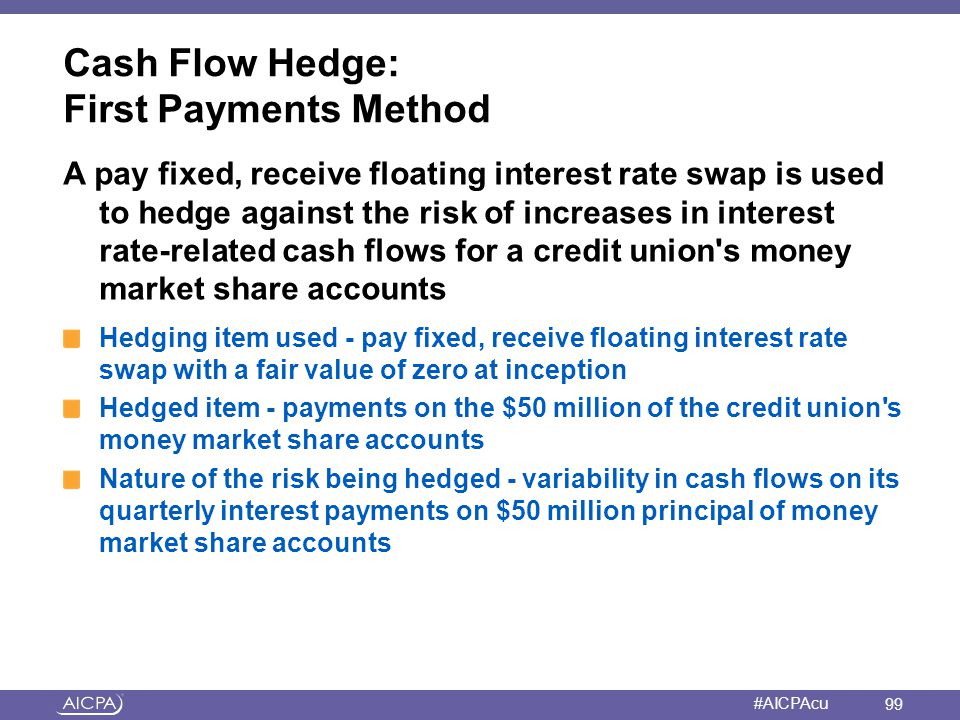 Cash Flow Hedge: First Payments Method