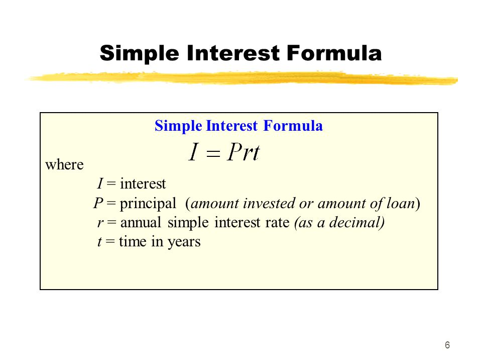 simple interest formula Calculating simple interest in an essential skill for anyone who maintains a bank account, carries a credit card balance, or applies for a loan the worksheets, crosswords, and other resources will improve your homeschool math lessons and help your students become better at calculations confused.