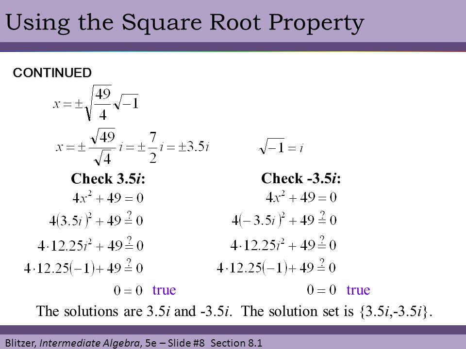 Chapter 8 Quadratic Equations and Functions - ppt video