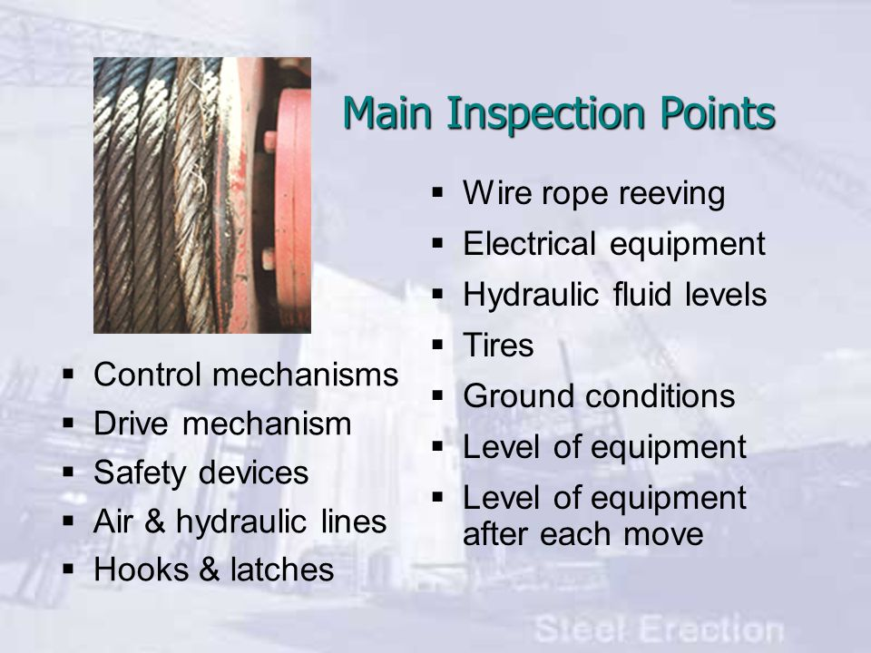 Main Inspection Points