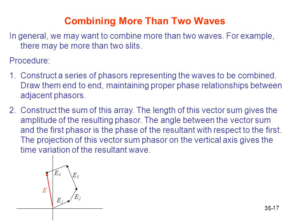 Combining More Than Two Waves