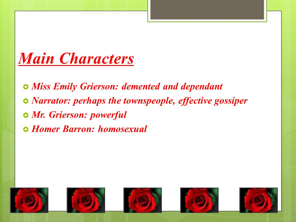 a rose for emily characters description