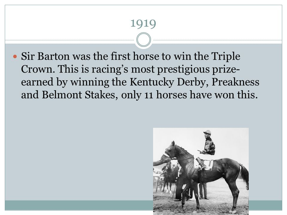 Image result for sir barton wins the belmont stakes in 1919