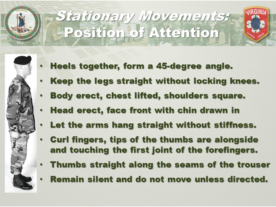 Stationary Movements: Position of Attention
