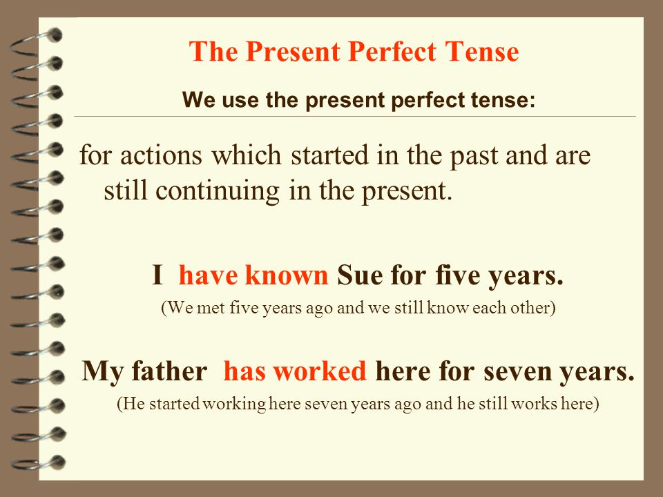 how to use present perfect tense in spanish